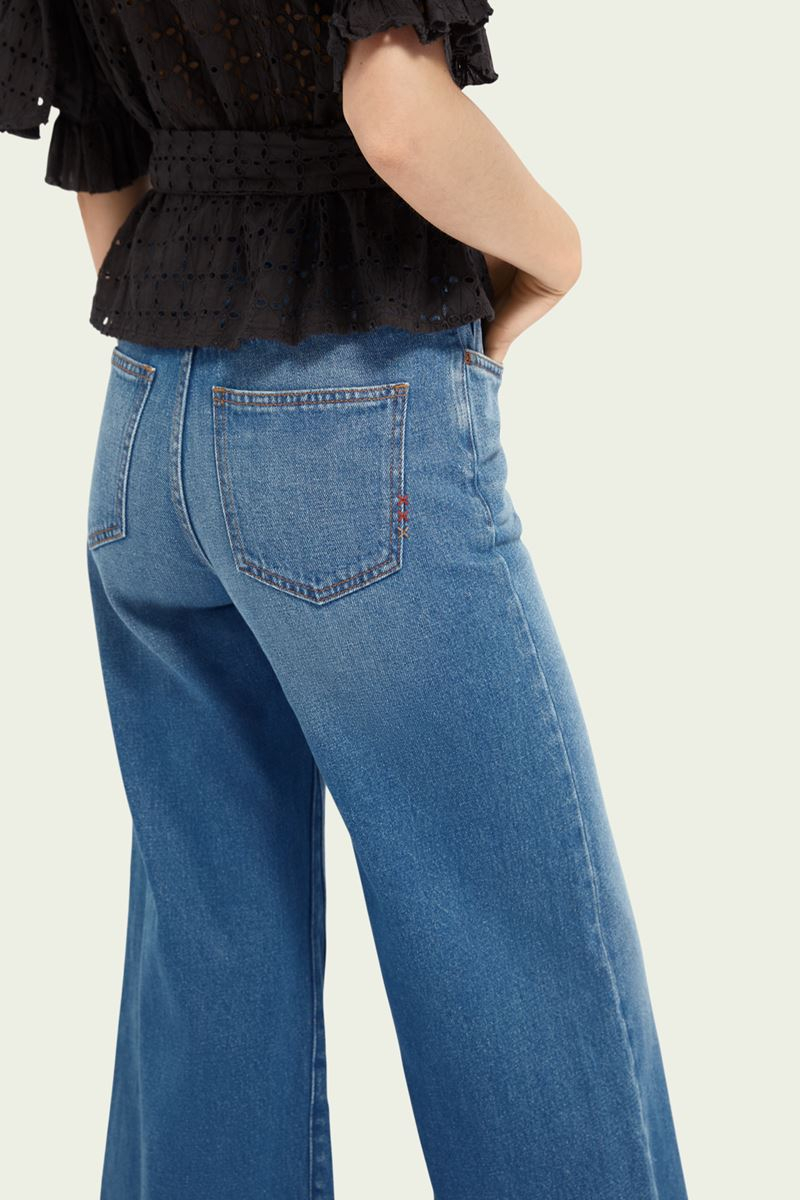 Collection Spring - Summer 2021 SCOTCH&SODA CROPPED HIGH-RISE WIDE LEG JEANS – LA CHANCE
