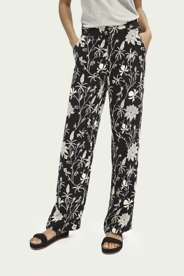 Collection Spring - Summer 2021 SCOTCH&SODA WIDE-LEG PRINTED TROUSERS