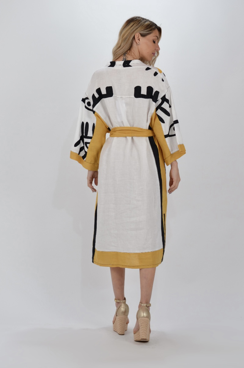 Collection Spring - Summer 2021 KORI-GREEK ARCHAIC EYE PATTERN KAFTAN DRESS
