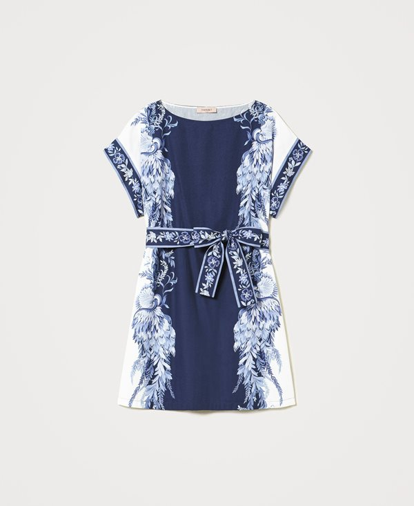 Collection Spring - Summer 2021 TWIN-SET FLORAL PRINT T-SHIRT DRESS