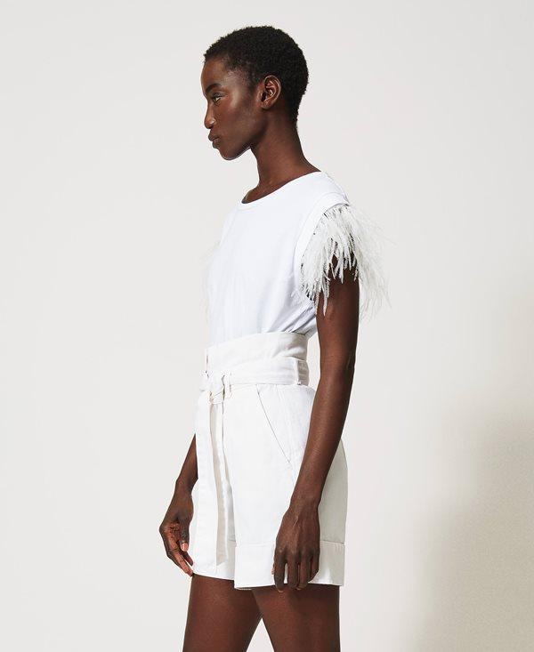 Γυναικεία Ρούχα TWIN-SET HIGH WAIST SHORTS WITH BELT