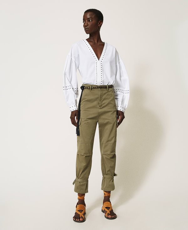 Collection Spring - Summer 2021 TWIN-SET CARGO TROUSERS WITH POCKETS