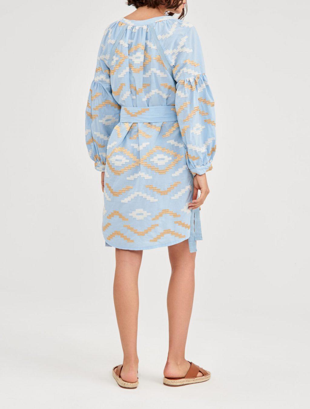 Collection Spring - Summer 2021 KORI-GREEK ARCHAIC BOHO DRESS EMBROIDERED