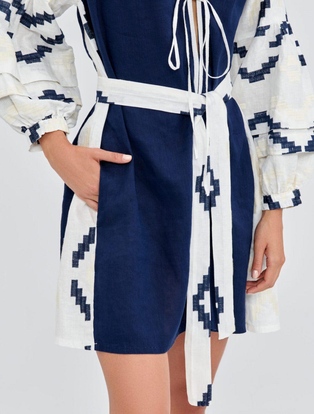 Collection Spring - Summer 2021 KORI-GREEK ARCHAIC MINI KAFTAN DRESS