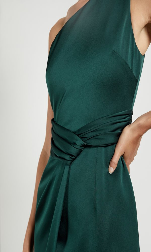 Collection Spring - Summer 2021 TED BAKER ZAARAA ONE SHOULDER FOLD DETAIL MIDI DRESS