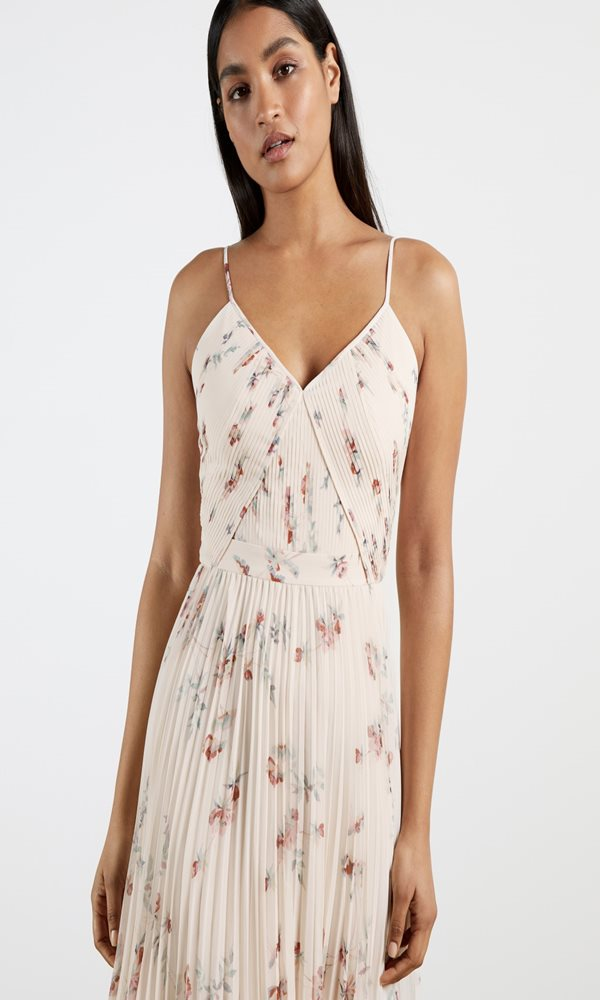 Collection Spring - Summer 2021 TED BAKER IANTHE PLEATED MIDI DRESS