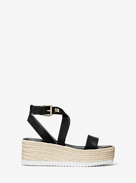 Collection Spring - Summer 2021 MICHAEL KORS LOWRY LEATHER WEDGE SANDAL