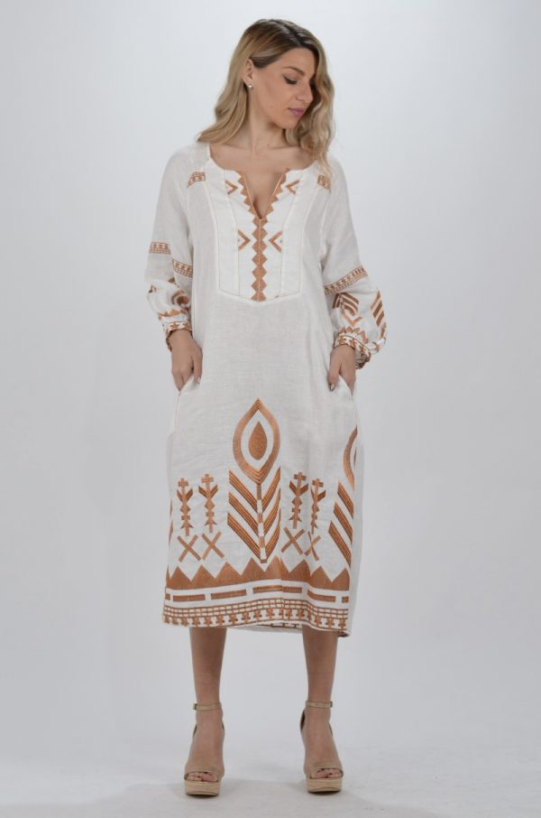 Collection Spring - Summer 2021 KORI-GREEK ARCHAIC KAFTAN DRESS ΜΑΚΡΥ ΜΑΝΙΚΙ