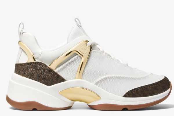 Collection Spring - Summer 2021 MICHAEL KORS SPARKS CANVAS AND LOGO TRAINER