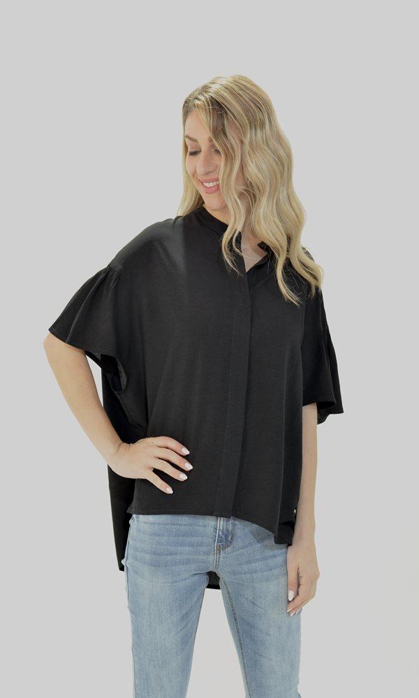 Γυναικεία Ρούχα BLACK&BLACK ΠΟΥΚΑΜΙΣΟ ΜΕ ΚΟΝΤΟ ΜΑΝΙΚΙ