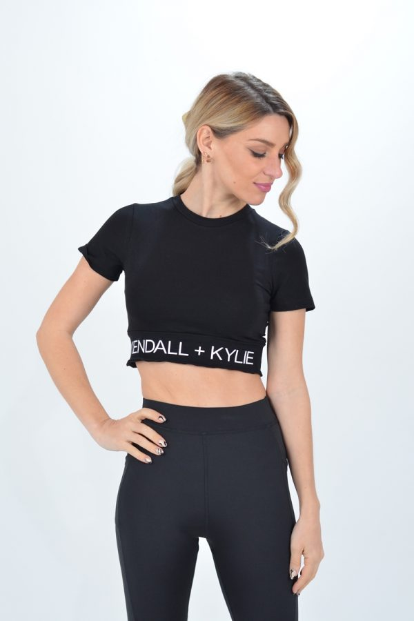 Collection Spring - Summer 2021 KENDALL + KYLIE FOLLOW ME HOODY MASH T-SHIRT