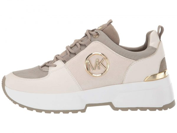 Collection Spring - Summer 2021 MICHAEL KORS COSMO TRAINER SUEDE/BEVEL CHARM CREAM