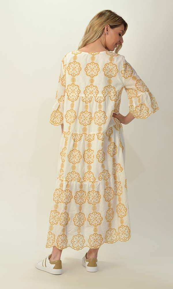Collection Spring - Summer 2021 MY TIFFANY EMBROIDERED MIDI BOHO DRESS