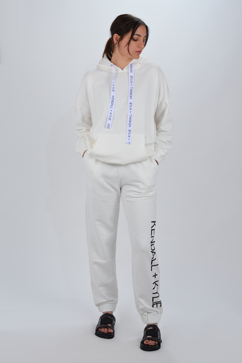 Collection Spring - Summer 2021 KENDALL + KYLIE ACTIVE CLASSIC SWEAT PANTS  & OVERSIZED LOGO HOODY (SET)