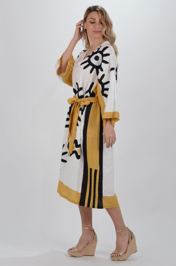 Collection Spring - Summer 2021 KORI-GREEK ARCHAIC EYE PATTERN KAFTAN DRESS