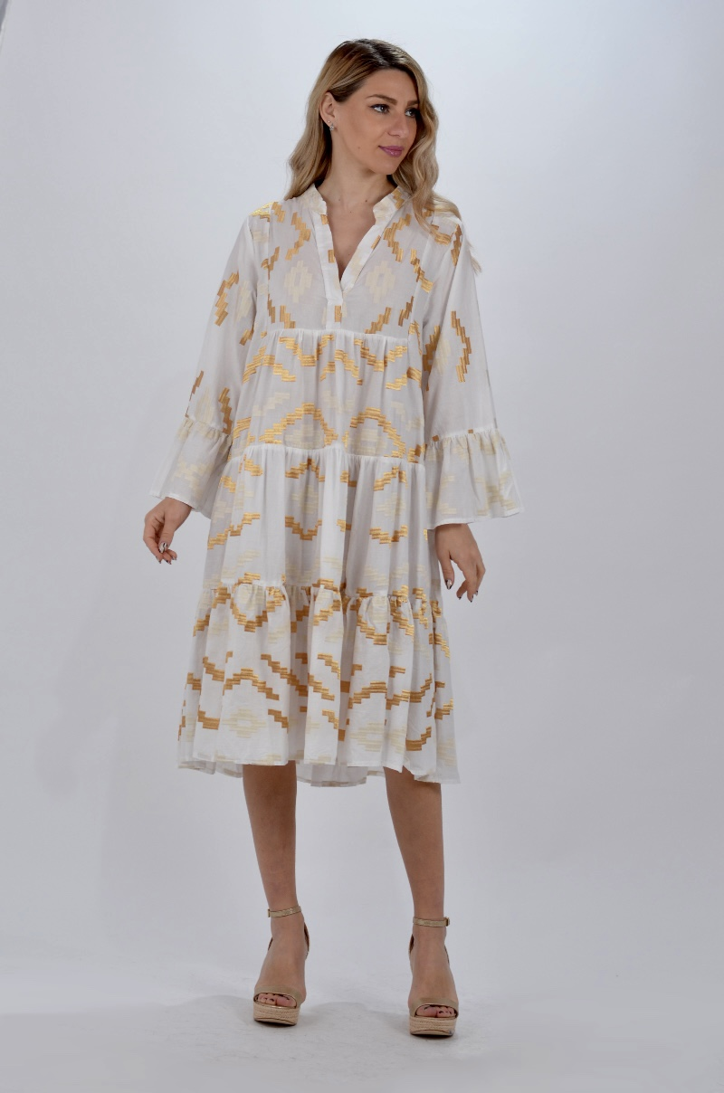 Collection Spring - Summer 2021 KORI-GREEK ARCHAIC BOHO MIDI DRESS