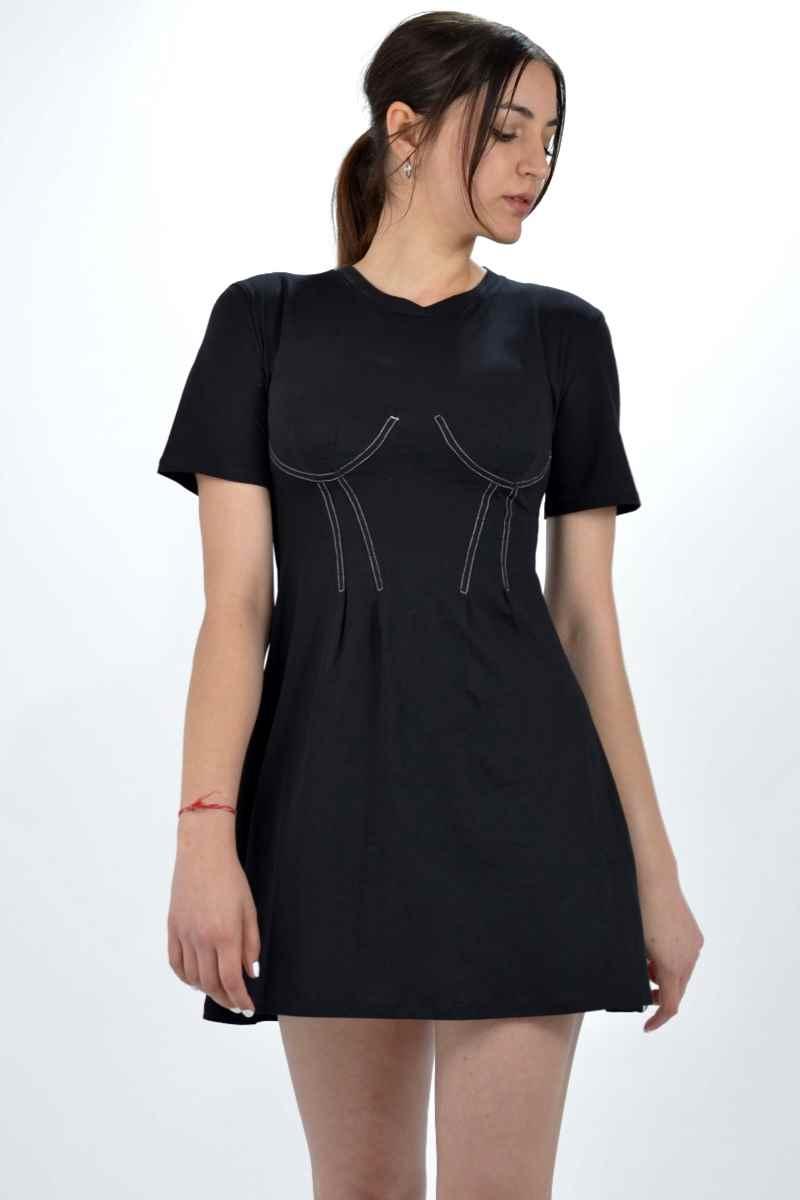 Collection Spring - Summer 2021 KENDALL + KYLIE CORSET LONGFEET COTTON DRESS