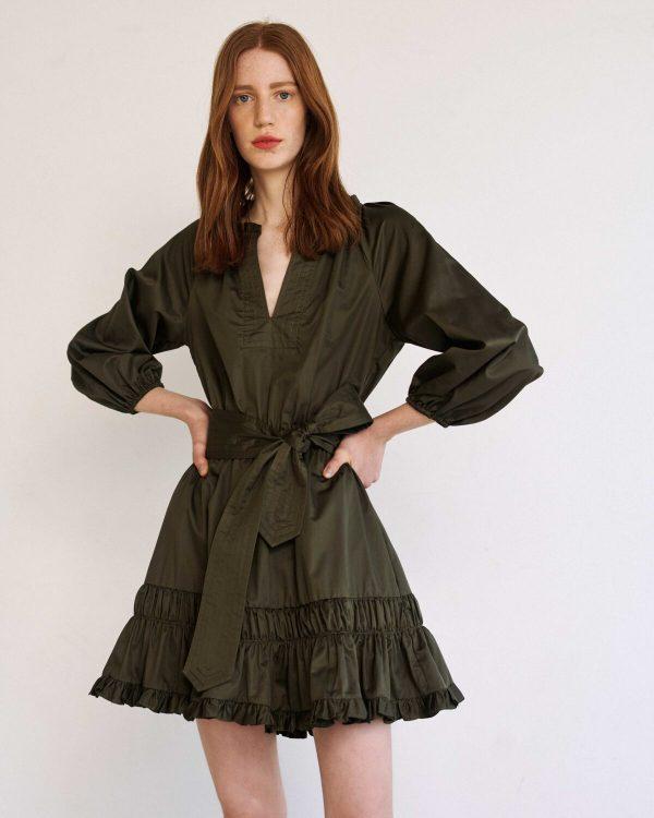 Collection Spring - Summer 2021 MILLA MIDI DRESS ΜΕ ΒΟΛΑΝ