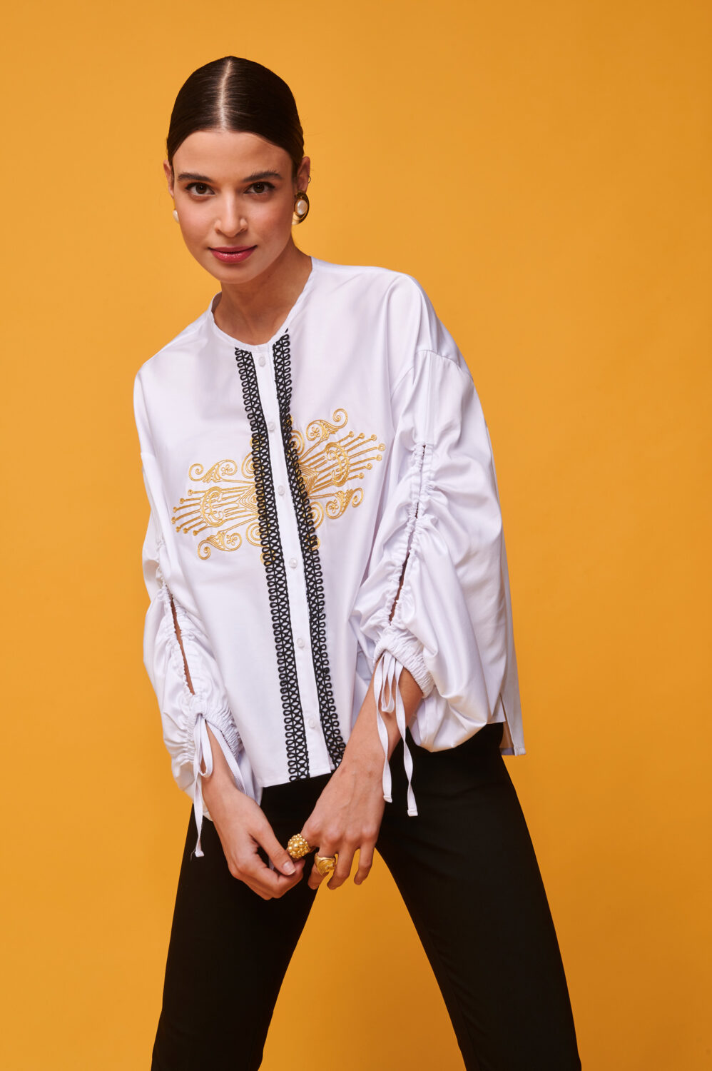 Collection Spring - Summer 2021 NEMA EMBROIDERED SHIRT