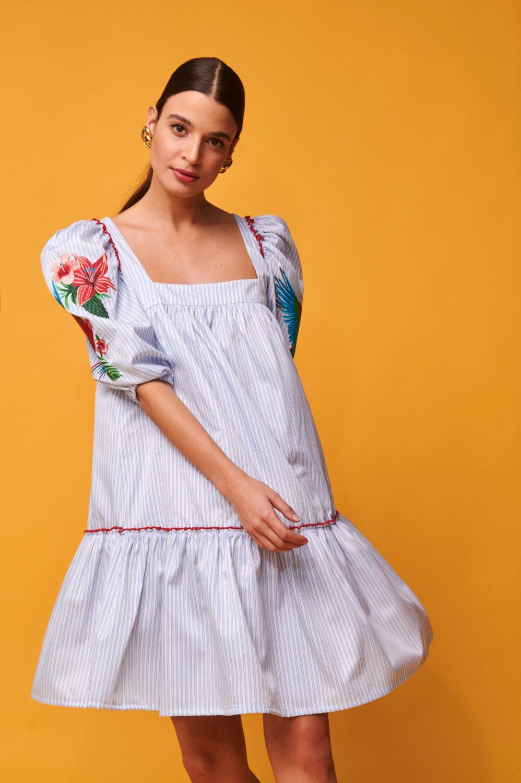 Collection Spring - Summer 2021 NEMA SHIRT DRESS ΜΕ ΚΕΝΤΗΜΑ