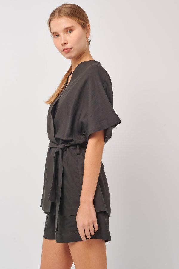 Γυναικεία Ρούχα BLACK&BLACK ΚΟΝΤΟ ΚΙΜΟΝΟ ΛΙΝΟ