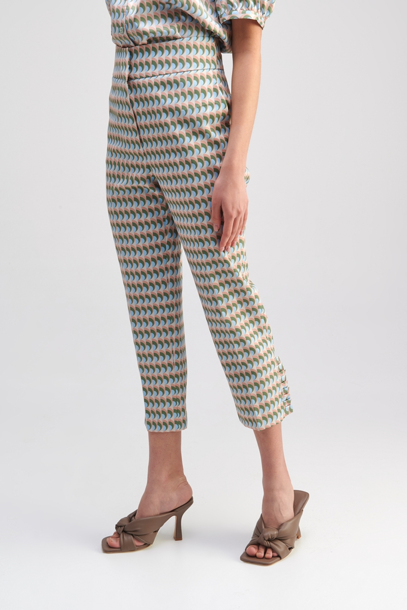 Collection Spring - Summer 2021 MY TIFFANY HIGH-RISE PRINTED PANTS
