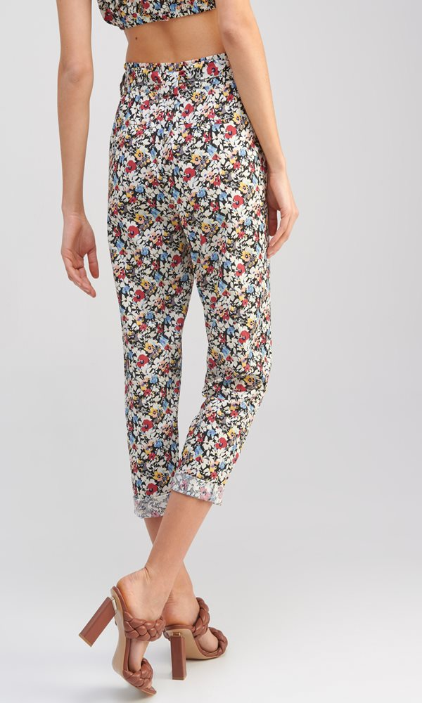 Collection Spring - Summer 2021 MY TIFFANY FLORAL TROUSERS