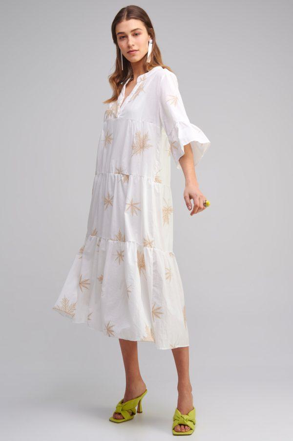 Γυναικεία Ρούχα MY TIFFANY MIDI BOHO DRESS EMBROIDERED