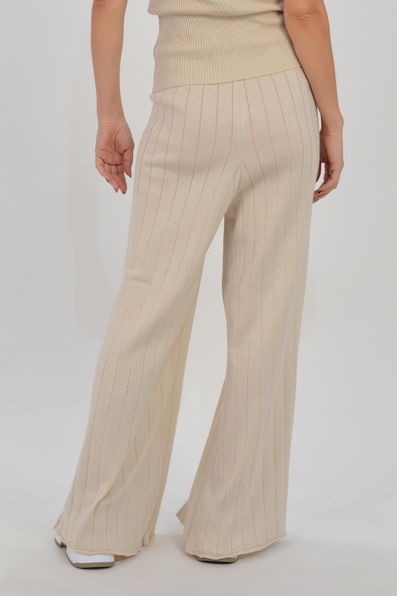 Collection Spring - Summer 2021 CKONTOVA KNIT PANTS OFF WHITE