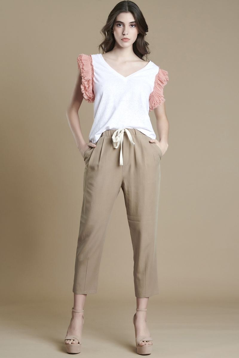 Collection Spring - Summer 2021 AVANT GARDE LINEN JOGGERS PANTS