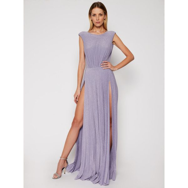 Collection Spring - Summer 2021 ELISABETTA FRANCHI GLITTER EMBELISHED PLEATED GOWN DRESS