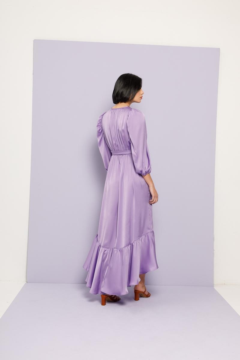 Collection Spring - Summer 2021 NEMA LILAC SILKY DRESS
