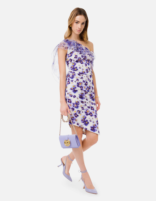 Collection Spring - Summer 2021 ELISABETTA FRANCHI PEONY PRINT MINI DRESS