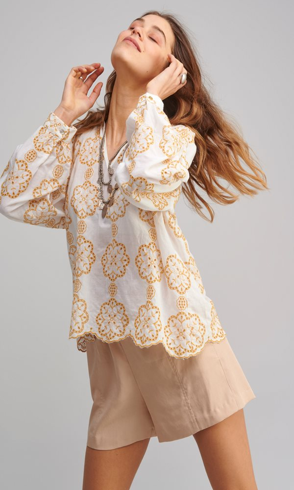 Collection Spring - Summer 2021 MY TIFFANY EMBROIDERED BLOUSE