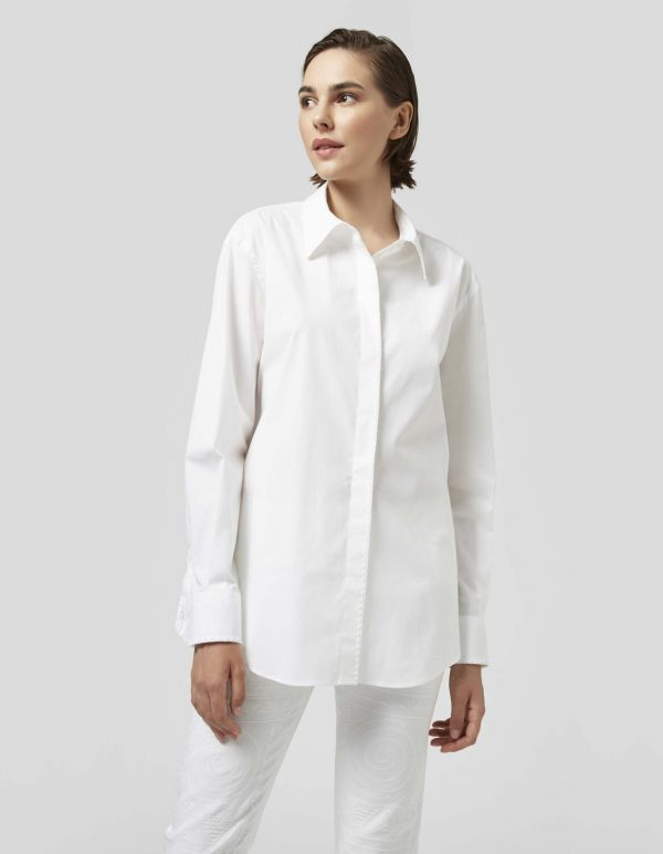 Collection Spring - Summer 2021 DONDUP OVERSIZED POPLIN SHIRT