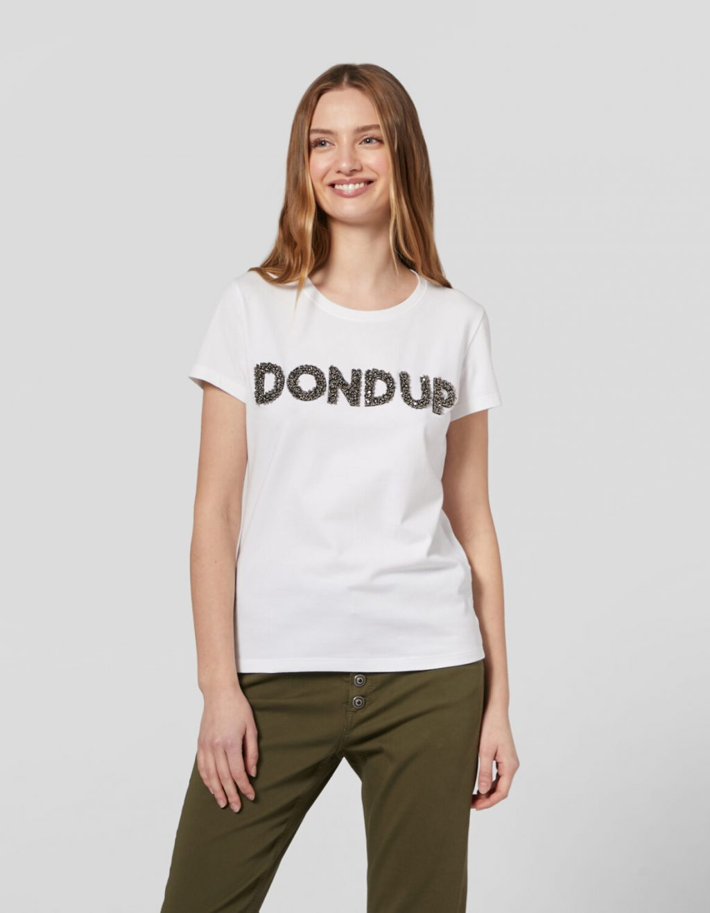 Collection Spring - Summer 2021 DONDUP SLIM-FIT T-SHIRT IN STRETCH JERSEY