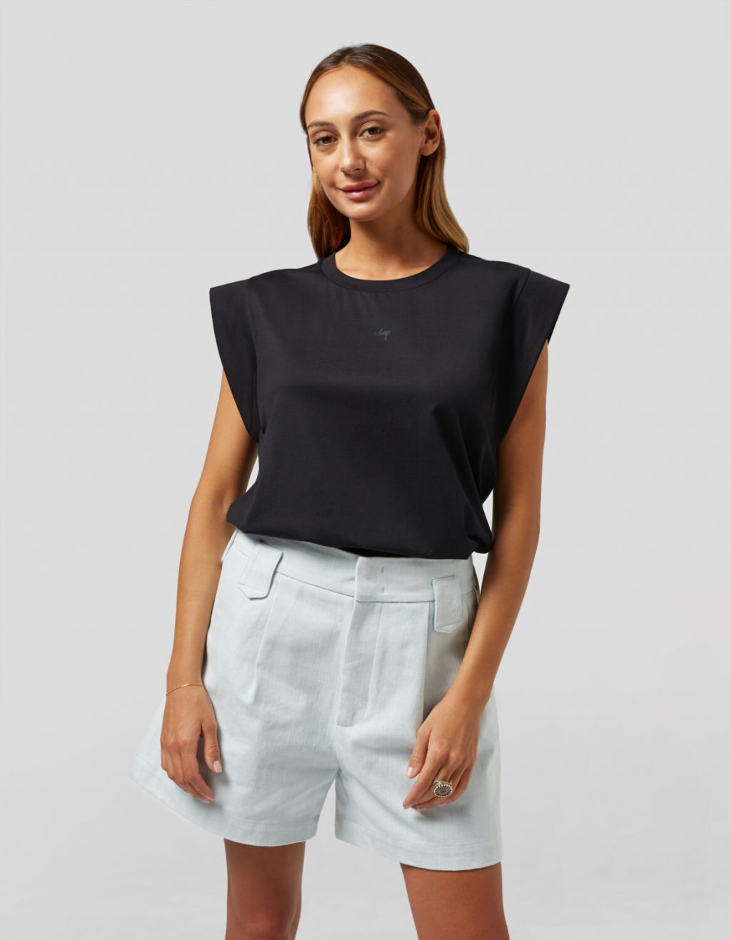 Collection Spring - Summer 2021 DONDUP SLEEVELESS REGURAL-FIT JERSEY TOP