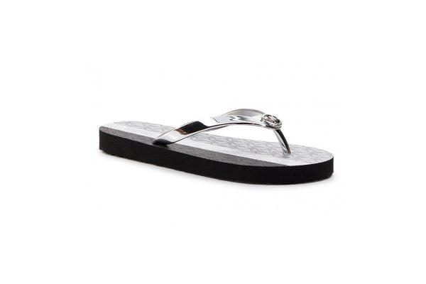 Παπούτσια MICHAEL KORS FLIP FLOP METALLIC SILVER