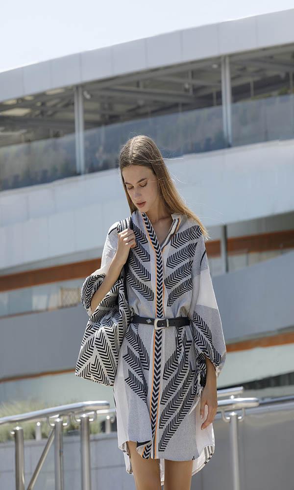 Collection Spring - Summer 2021 DEVOTION SHORT DRESS ZAKAR HAVANA
