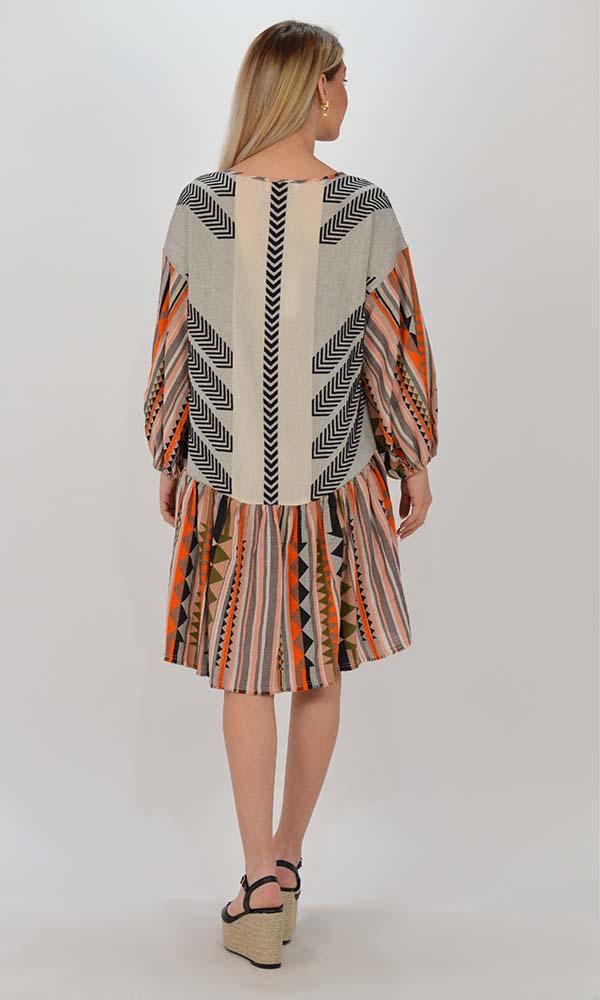 Collection Spring - Summer 2021 DEVOTION TWINS LAUSANNE MULTI KHAKI DRESS