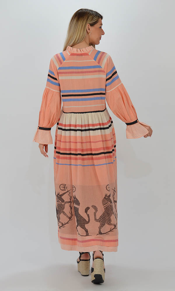 Collection Spring - Summer 2021 DEVOTION TWINS PORTOFINO PINK LONG DRESS