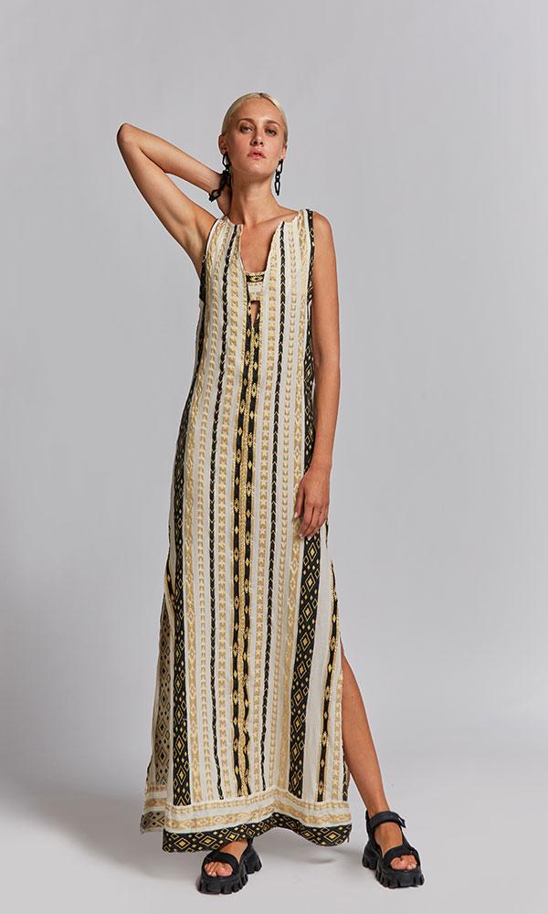 Collection Spring - Summer 2021 NEMA EFTERPI EMBROIDERED DRESS
