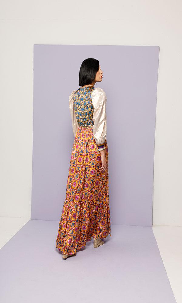 Collection Spring - Summer 2021 NEMA POLYMNIA MAXI DRESS