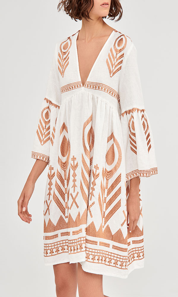 Collection Spring - Summer 2021 KORI-GREEK ARCHAIC MINI BOHO DRESS