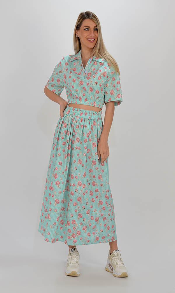 Collection Spring - Summer 2021 LUMINA CROP FLORAL SHIRT