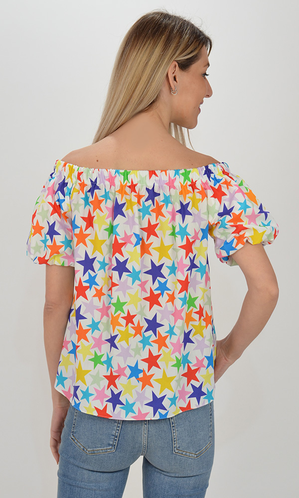 Collection Spring - Summer 2021 IMPERIAL COLORFUL STARS BLOUSE
