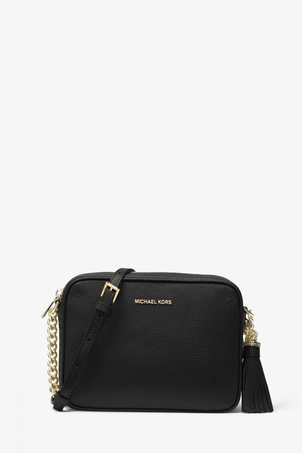Collection Spring - Summer 2021 MICHAEL KORS GINNY LEATHER CROSSBODY BAG BLACK