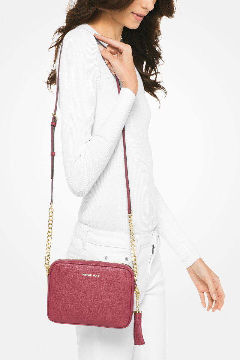 Collection Spring - Summer 2021 MICHAEL KORS GINNY LEATHER CROSSBODY BAG