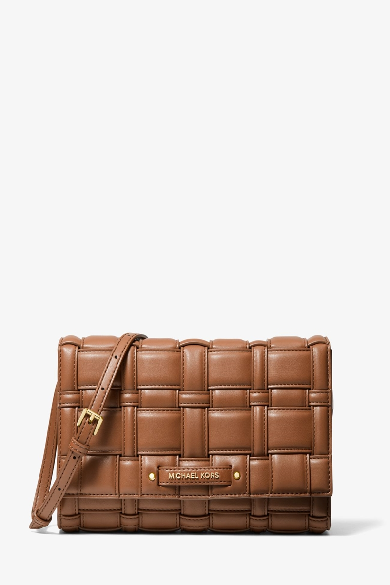 Collection Spring - Summer 2021 MICHAEL KORS IVY LARGE WOVEN CROSSBODY BAG