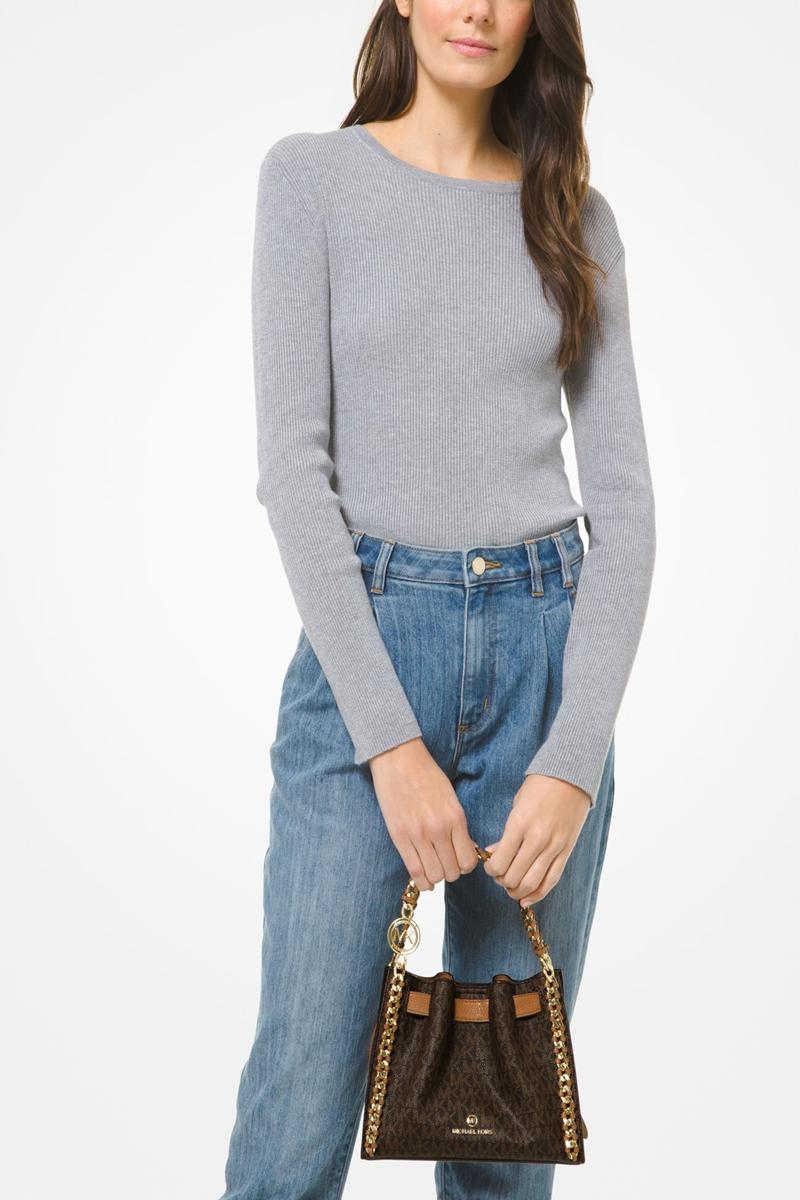 Collection Spring - Summer 2021 MICHAEL KORS MINA SMALL LOGO CROSSBODY BAG